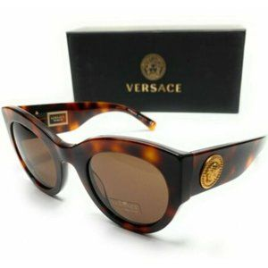 Versace Women's Havana Cat Eye Sunglasses!